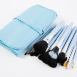 15PCS Professional Makeup Brush Set with Blue PU Leather Bag