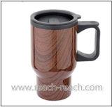 450ml Wooden Printing Car Mug, Travel Mug (R-2056)