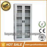 Glass Door Office Storage Adjustable Shelves Solid Steel Fling Cabinet