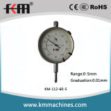 High Quality Precision 0-5mm Dial Indicator with Silver Bezel