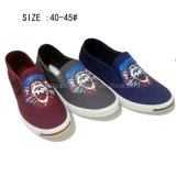Latest Low Price Fashion Men′s Slip on Canvas Shoes (DL60929-6)