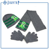 Wholesale Knit Scarf Beanie and Glove Knitted Set