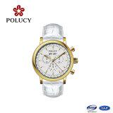 High Quality Genuine Leather Watch Band Fashion Men′s Watch Quartz