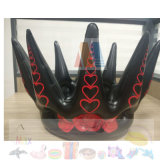 Family Party PVC Inflatable Black Rose Crown