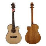 Aiersi Handmade 40-Inch Solid Top Acoustic Guitar with Zebrawood (SG02SZ-40)
