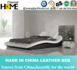 New Modern European Design Bedroom Double Leather Bed (HC339)