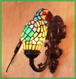 Art Tiffany Style Macaw Wall Sconce