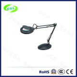 10X Magnifying Glass Lamp, LED Light with Desk Clamp Magnifier
