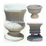 Natural Granite Stone Flower / Plant Pot for Garden or Landscape