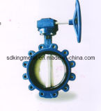 Epoxy Coated Wafer Type Gear Operated Butterfly Valve