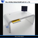 Contemporary White CEO Table with Modern Design