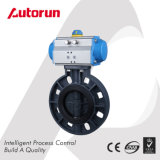Wafer Connection PVC Plastic Pneumatic Butterfly Valve