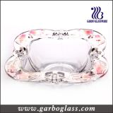 Square Glass Decorated Fruit Bowl (GB1607YJX/P)