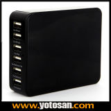6 Port USB Wall Charger with Cable for Mobile Phone Smart Devices