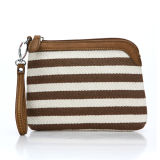 Brown Stripe Fashion Woman Wrist Clutch Bag (MBNO036110)