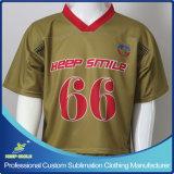 Custom Sublimation Double Plies Shoulder Lacrosse Game Team Shirt