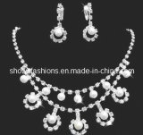 Bridal Jewelry Sets/Shiny Pearl & Crystal Fashion Jewelry Sets/ Necklace and Earrings Sets (XJW12237)