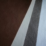 1mm Thickness Bright PU Shoe Upper Leather/ Lightning Pattern Leather for Making Shoes