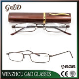 Fashion Popular Metal Frame Reading Glasses with Case
