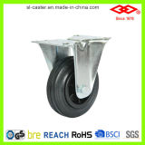 80mm Black Rubber Caster Wheel (D103-31D080X25)