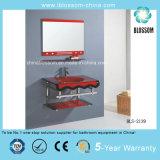 Modern Bathroom Glass Basin Vanity (BLS-2139)