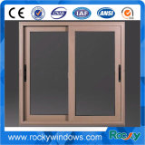 Tempered Glass Aluminum Sliding Window with Mosquito Net Exterior