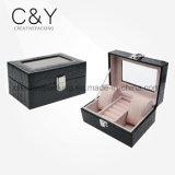 Luxury Black Leather Jewelry Case Box