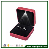 Fashion Hot Selling Red LED Plastic Jewellery Box