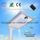 6W Solar LED Street Light Integrated for Outdoor