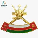 Oman Souvenir Casting Paint Gold Plated Custom National Emblem Badge