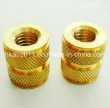 Precision Custom CNC Machining Brass Knurled Straight Insert Nuts