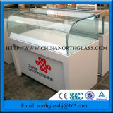 Clear Curved Shape Glass for Showercase