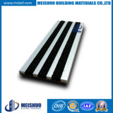 Skid Resistance Aluminum Stairway Treads with Carborundum Inserts