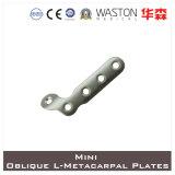 Titanium or Ss Mini Oblique L- Metacarpal Plate