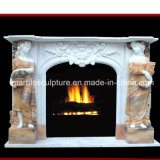 Natural Stone Marble Fireplace with Figure Carved (SY-MF161)