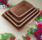 European Style Eco-Friendly High Grade Inmitation Rattan Basket, PP Basket for Vegetables and Fruits