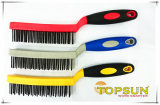Two-Colored Plastic Grip Cleaning Wire Brush