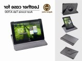 360 Degree Rotary Leather Case for Acer Iconia Tab A700 A701 A510 A511 10.1 Tablet Rotating Stand Book Cover (AL-02)