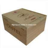 Siliding Lid Classical Exquisite Customized Wooden Wine Box