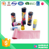 Plastic Disposable Garbage Trash Bags with Paper Label