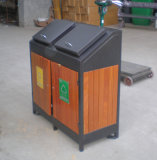 Outdoor Wooden Dustbin, Waste Bin, Trach Can (BH15707)