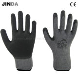 Latex Crinkle Coated 10g Knitted Yarn Shell Safety Work Gloves