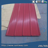Color Coated Corrugated T-Profile Roof Steel Sheet
