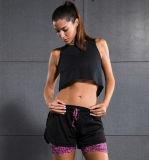 Athletic Running Women′s Mesh High Quality Four Way Stretch Yoga Shorts