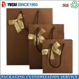 Customized Luxury Chocolate Brown Gift Paper Bag