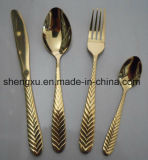 Chinese Design Stainless Steel Rose Gold Dinnerware Cutlery Set Sx-Rg007