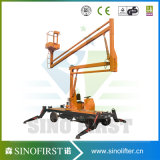 Self Movable Articulated Manlift Access Platform Cherry Picker Truck