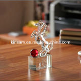 Crystal Glass Animal Horse Model Craft for Gift
