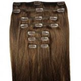 100% Remy Hair Extensions Clips on Hair