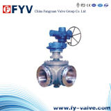 3-Way Ball Valve L/T Port Dbb with Gear Operation
